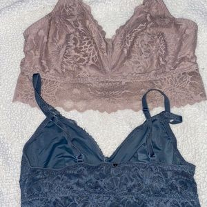 Two Bralettes PINK
